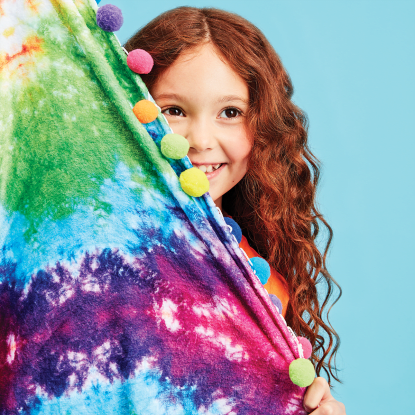 Picture of Rainbow Tie Dye Plush Blanket
