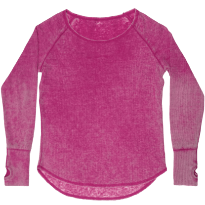 Picture of Burnout Berry Thermal Shirt