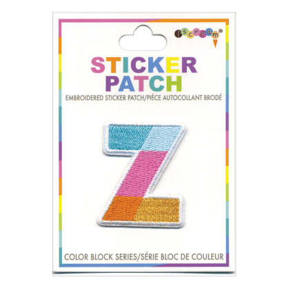 Picture of Z Initial Color Block Sticker Patch