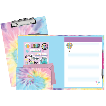 Picture of Pastel Tie Dye Clipboard Set