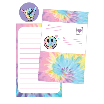 Picture of Pastel Tie Dye Foldover Cards
