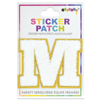 Picture of M Initial Varsity Sticker Patch
