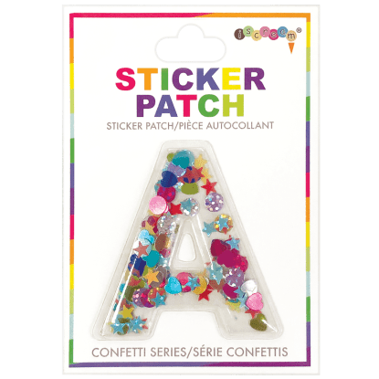 Picture of A Initial Confetti Sticker Patch