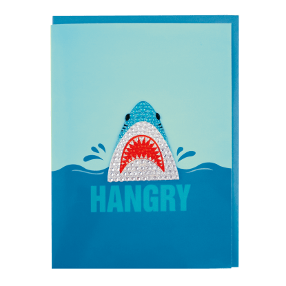Picture of Shark Rhinestone Decal Greeting Card