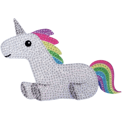 Picture of Rainbow Unicorn Rhinestone Decal Large