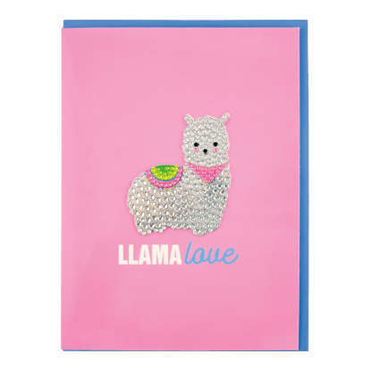 Picture of Llama Rhinestone Decal Greeting Card