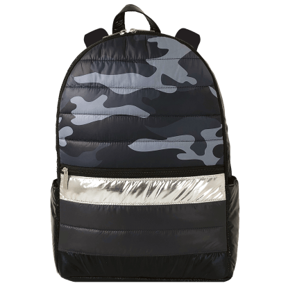 Picture of Black Camo Puffer Backpack