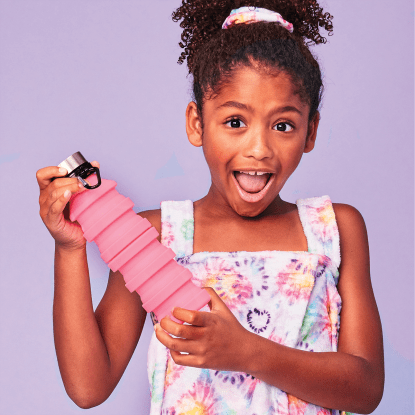 Picture of Pink Collapsible Water Bottle