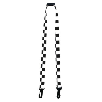 Picture of Black and White Face Mask Lanyard