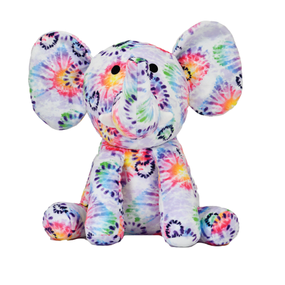 Picture of Tie Dye Heart Elephant Fleece Pillow