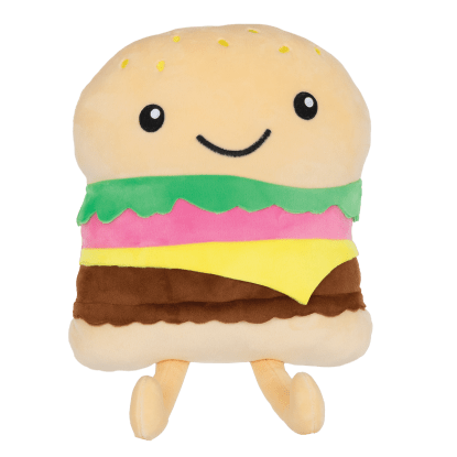 Picture of Happy Burger Fleece Pillow