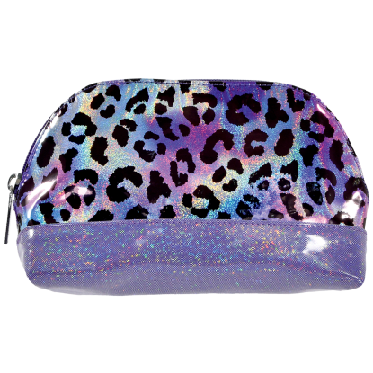 Picture of Iridescent Leopard Oval Cosmetic Bag