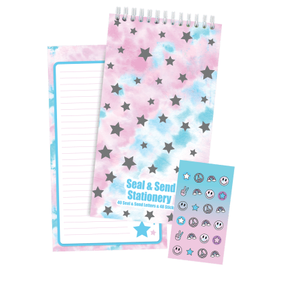 Picture of Silver Star Tie Dye Seal & Send Stationery