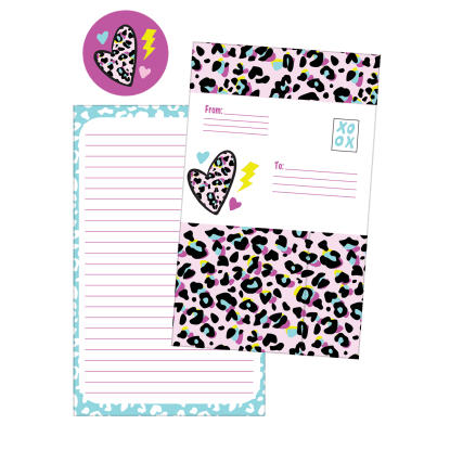 Picture of Pink Leopard Foldover Cards