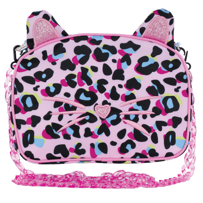 Picture of Pink Leopard Glitter Crossbody Bag