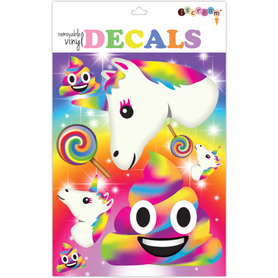 Picture of Rainbow Emojis Decals Large