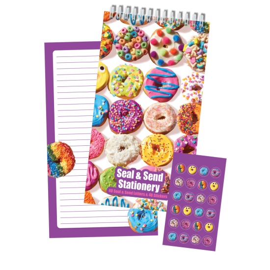 Picture of Assorted Donuts Seal & Send Stationery