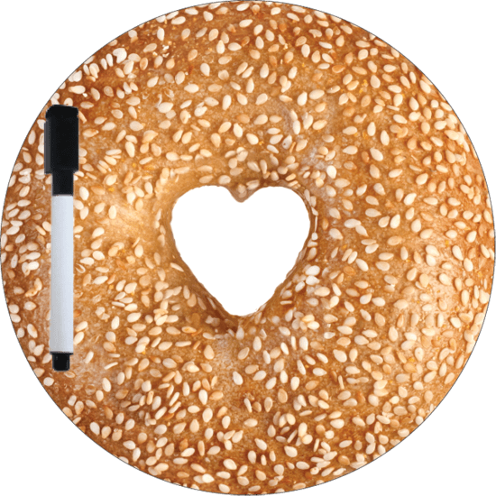 Picture of Sesame Bagel Dry Erase Board