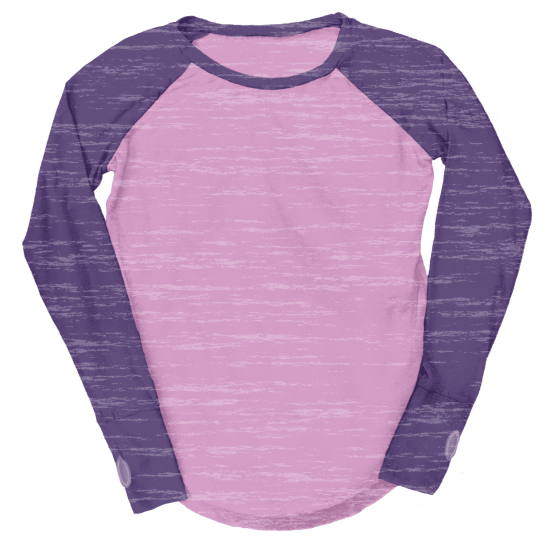 Picture of Burnout Pink/Eggplant Baseball Shirt