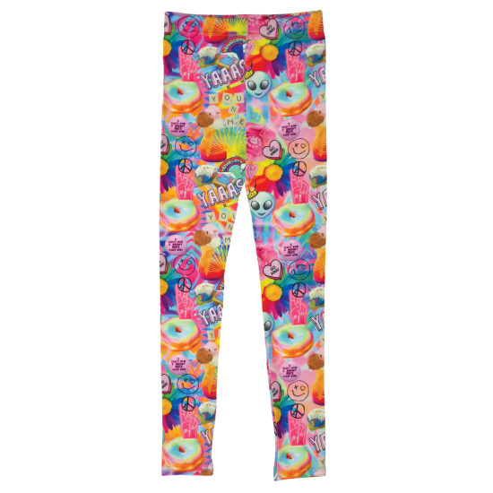 Picture of Psychedelic Collage Leggings