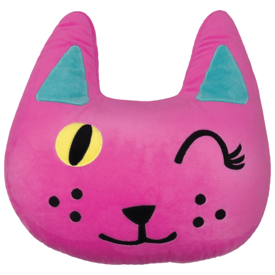 Picture of Winking Cat Embroidered Pillow