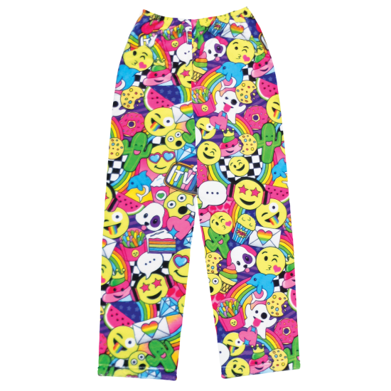 Picture of Emoji Party Plush Pants