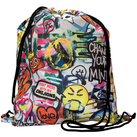 Picture of Emoji Graffiti Drawstring Bag