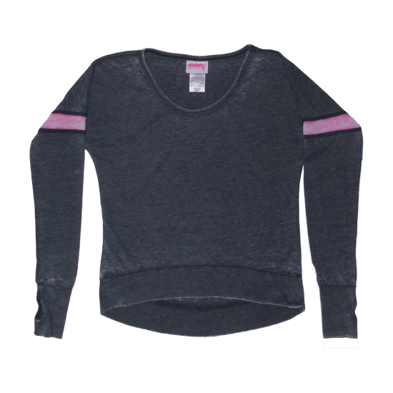 Picture of Black/Pink Stripe Rugby Shirt