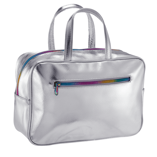 Picture of Silver Metallic Large Cosmetic Bag