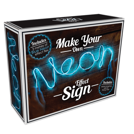 Picture of DIY Neon-Effect Blue Light