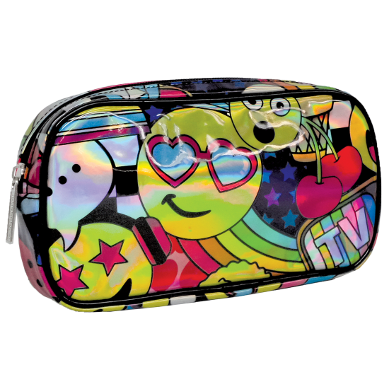 Picture of Emoji Party Holographic Small Cosmetic Bag