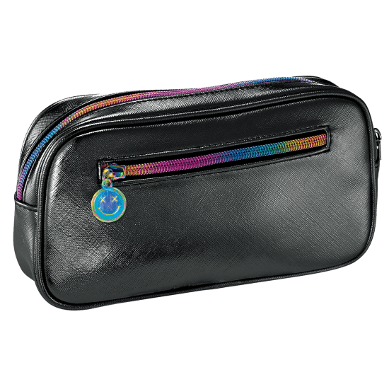 Picture of Black Metallic Small Cosmetic Bag