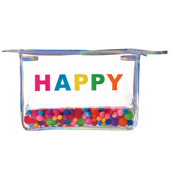 Picture of Happy Pom Pom Clear Travel Bag