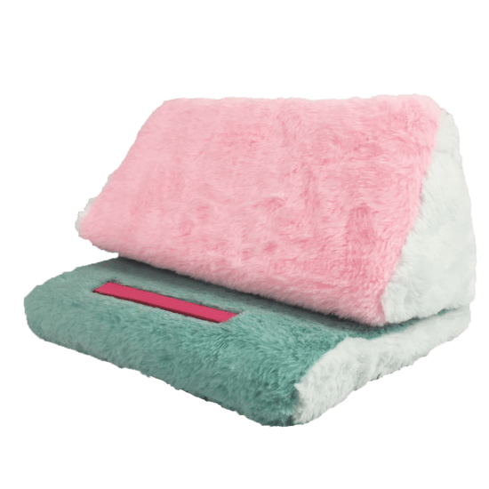 Picture of Color Block Furry Tablet Pillow