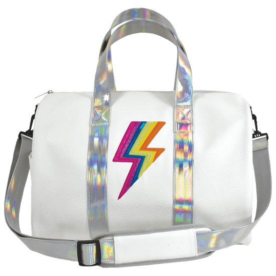 Rainbow Lightning Duffle Bag