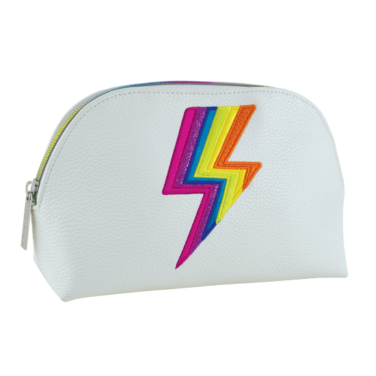 Rainbow Lightning Small Cosmetic Bag