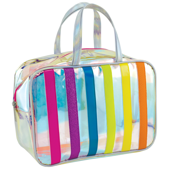 Picture of Iridescent Striped Large Cosmetic Bag