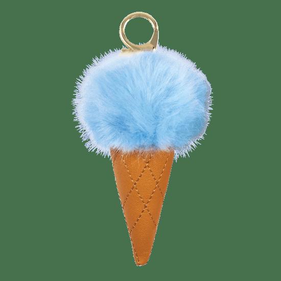 Picture of Ice Cream Furry Pom-Pom Clip Blue