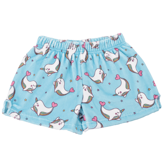 Picture of Rainbow Narwhal Plush Shorts