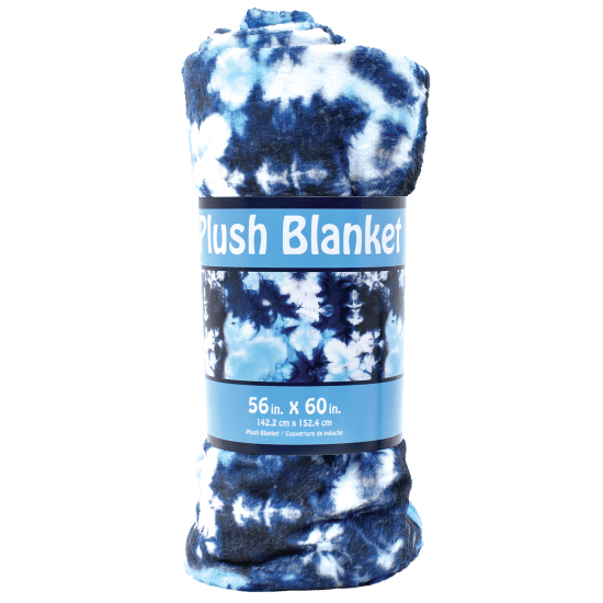 Picture of Blue Tie Dye Plush Blanket