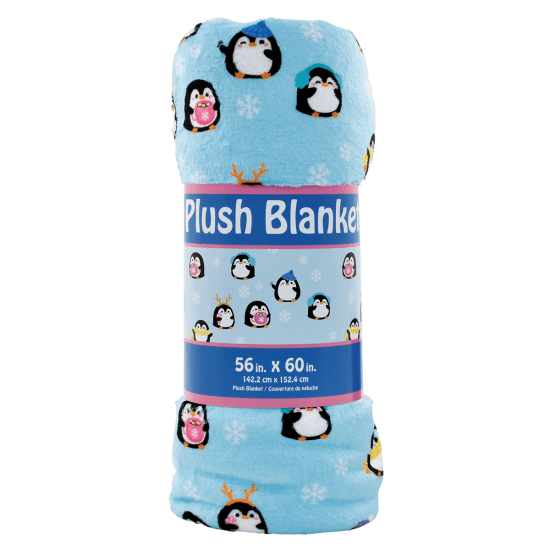 Picture of Holiday Penguins Plush Blanket