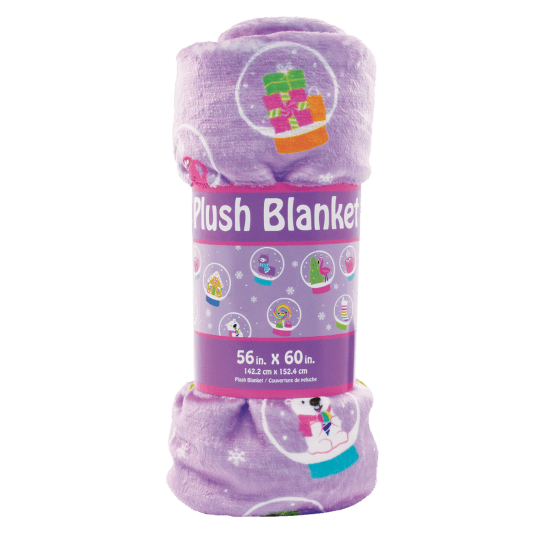 Picture of Holiday Snow Globes Plush Blanket