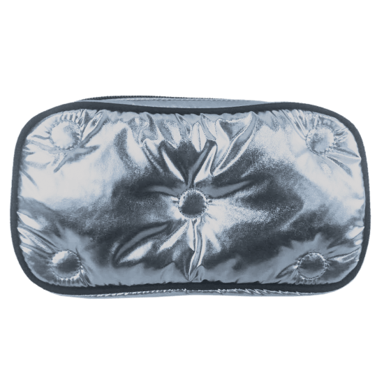 Picture of Chrome Tufted Metallic Small Cosmetic Bag