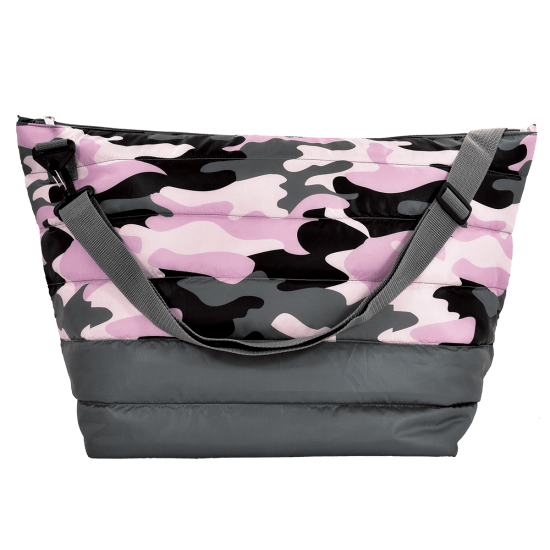 Picture of Purple Camo Puffer Weekender Bag