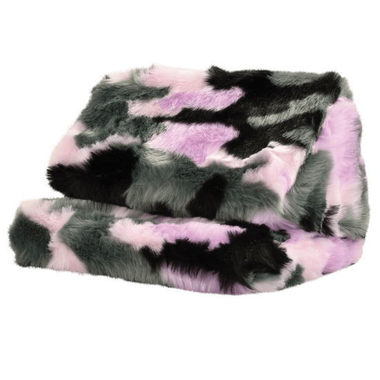 Picture of Purple Camo Furry Tablet Pillow