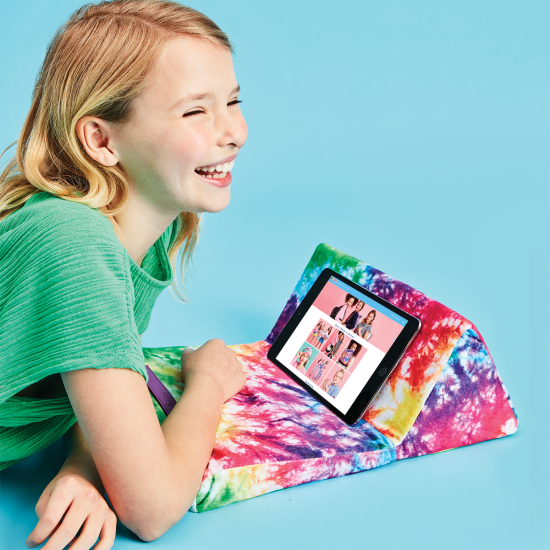 Picture of Rainbow Tie Dye Tablet Pillow
