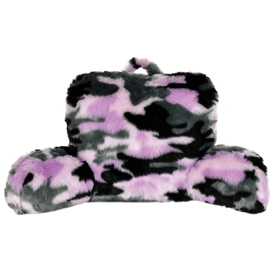 Picture of Purple Camo Furry Lounge Pillow