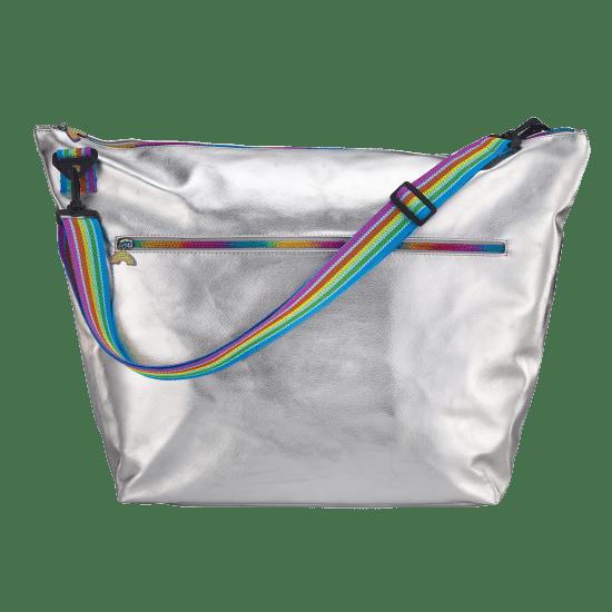 Picture of Silver Metallic Weekender Bag