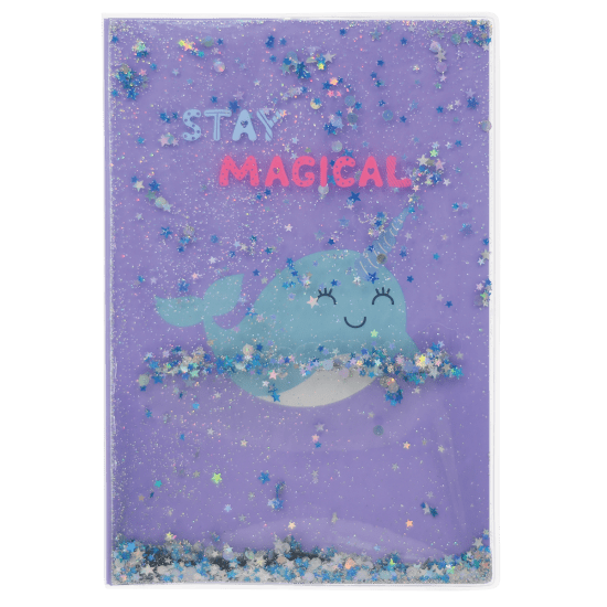 Picture of Narwhal Floating Glitter Journal