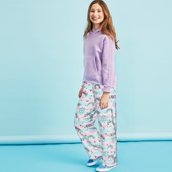 Picture of Unicorn Stripes Plush Pants